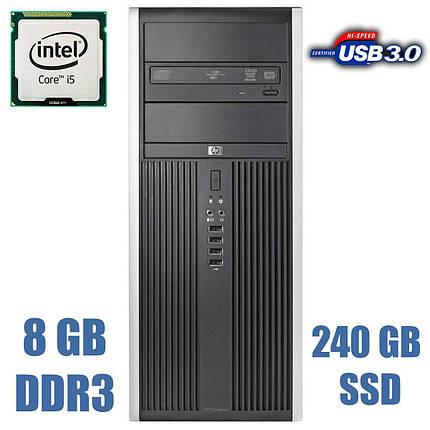 HP Compaq 8300 Elite Tower / Intel Core i5-3470 (4 ядра по 3.20 - 3.60 GHz) / 8GB DDR3 / new! 240GB SSD + 500GB HDD, фото 2