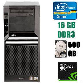 Fujitsu Celsius M470 Tower / Intel Xeon X5650 (6(12)ядер по 2.66-3.06GHz) / 16 GB DDR3 / 500 GB HDD / GeForce GTX 1060 6GB GDDR5 192bit, фото 2
