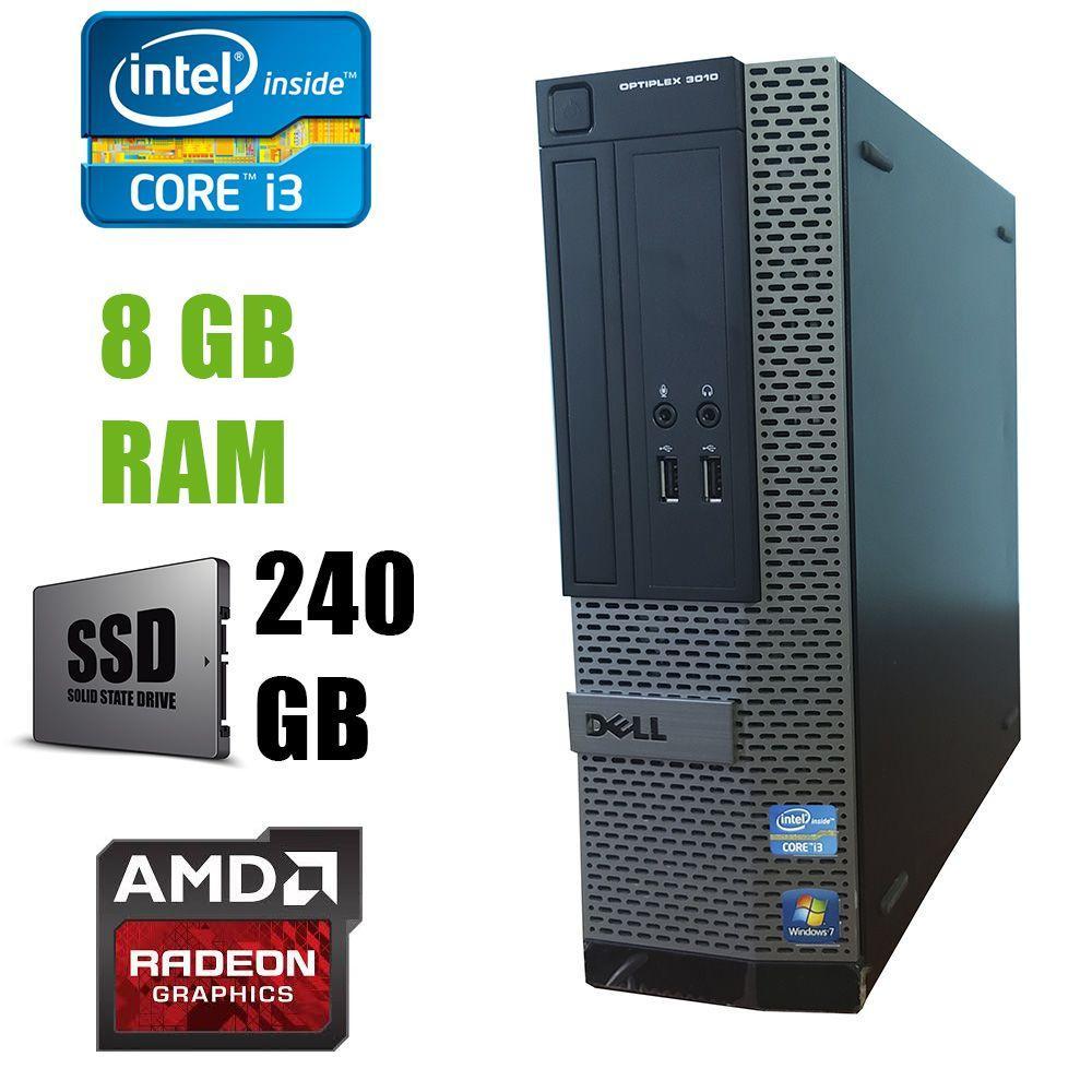 Dell 3010 SFF / Intel Core i3-3220 (2(4)ядра по 3.30GHz) / 8 GB DDR3 / new! 240 GB SSD / AMD Radeon HD 7470 1GB GDDR3 64bit