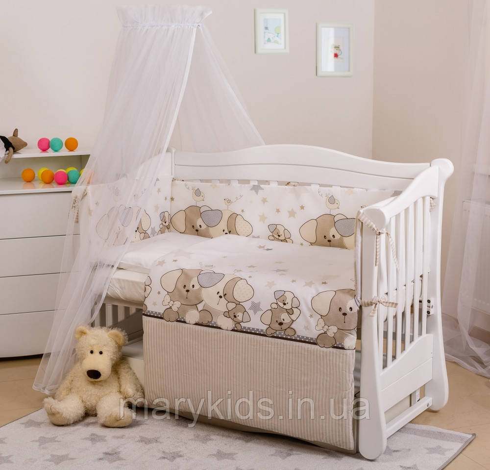 Дитяче ліжко Twins Eco Line 4090-E-014 Cute Dog 6 елементів