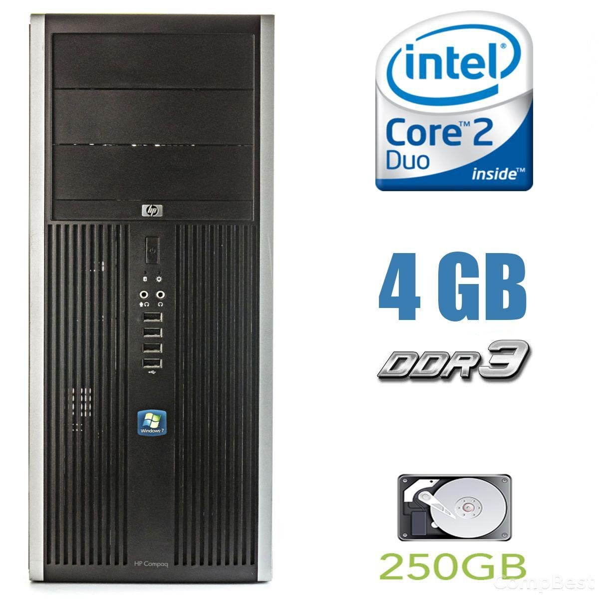 HP Compaq Elite 8000 MT / Intel Core 2 Duo E8400 (2 ядра по 3.00GHz) / 4 GB DDR3 / 250 GB HDD