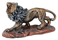 """Статуэтка """"Лев на подставке"""" Бронза цветной 40 см"""
