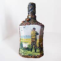 Оригинальный подарок охотнику Декор бутылки Охота на уток, фото 1