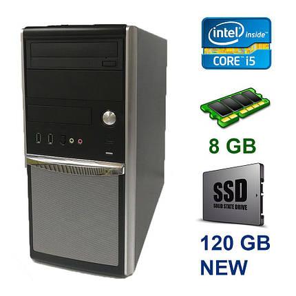 EuroCom ATX Tower / Intel Core i5-4570 (4 ядра по 3.2 - 3.6 GHz) / 8 GB DDR3 / 120 GB SSD NEW / nVidia GeForce GTX 1050 Ti, 4 GB GDDR5, 128bit, фото 2