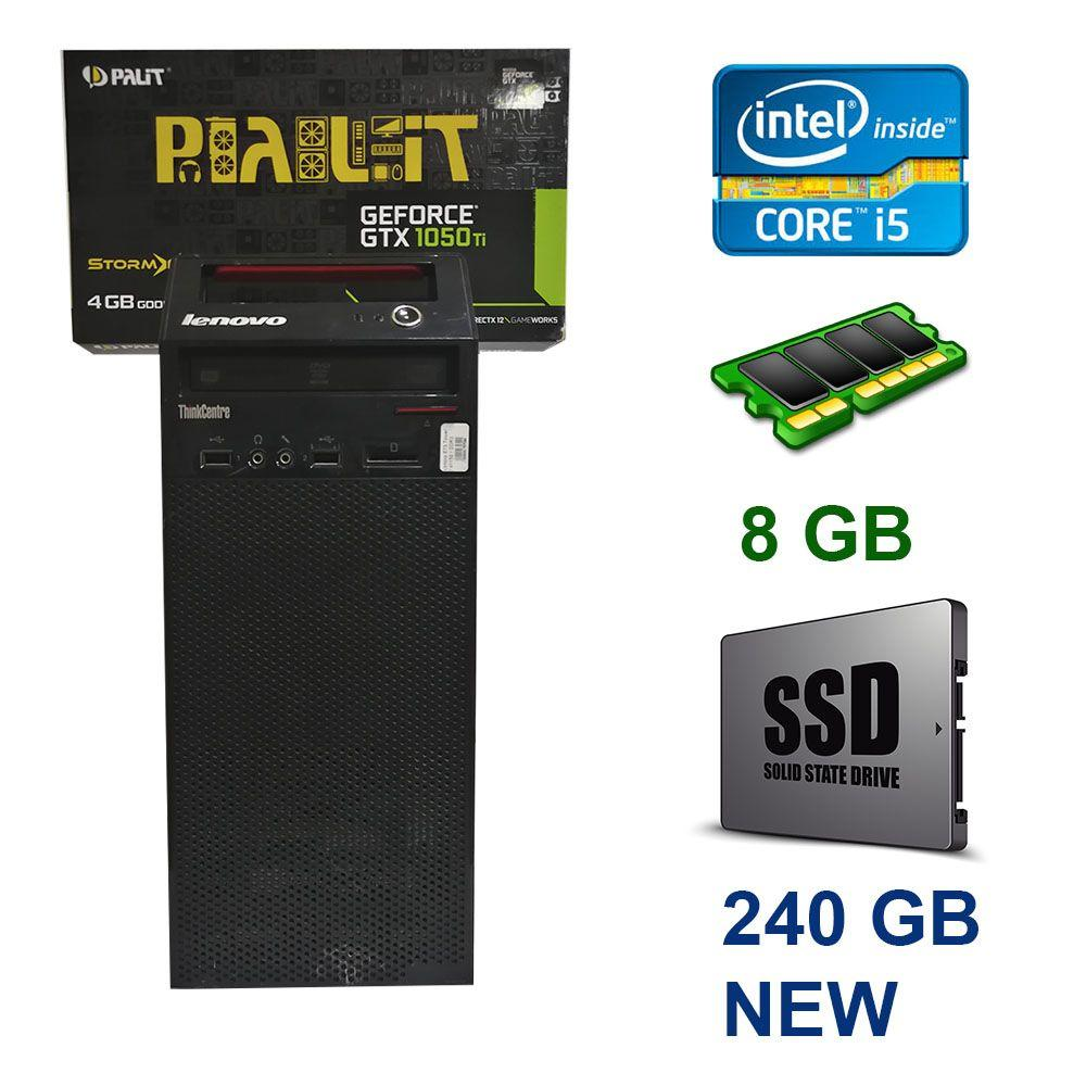 Lenovo Think Centre M81 / Intel Core i5-2400 (4 ядра по 3.1 - 3.4 GHz) / 8 GB DDR3 / 240 GB SSD NEW / nVidia GeForce GTX 1050 Ti, 4 GB GDDR5, 128bit