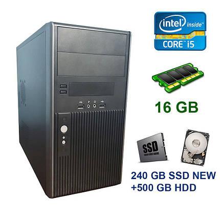 Hyundai Pentino Black Tower / Intel Core i5-3470 (4 ядра по 3.20 - 3.60 GHz) / 16 GB DDR3 / 240 GB SSD NEW+500 GB HDD / nVidia GeForce GTX 1060, 3 GB, фото 2
