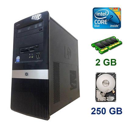 HP Compaq dx2420 Tower / Intel Core 2 Duo E8400 (2 ядра по 3.0 GHz) / 2 GB DDR2 / 250 GB HDD, фото 2