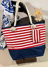 Пляжна сумка жіноча Стріпс №2