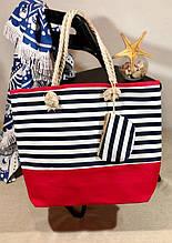 Пляжна сумка жіноча Стріпс №3
