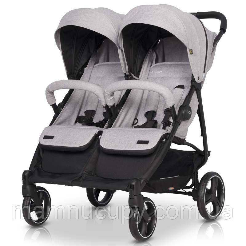 Детская прогулочная коляска для двойни EasyGo Domino 2020 Pearl