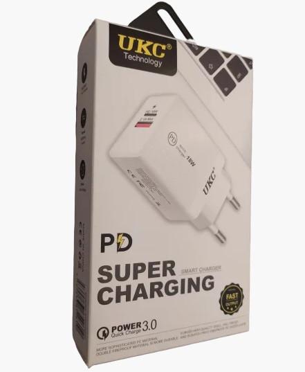 Сетевой адаптер Fast Charge 220v18w APD 889 USB+Type-C