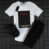 Мужской летний спортивный костюм ( футболка + шорты + кепка ), фото 5