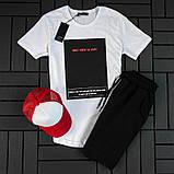 Мужской летний спортивный костюм ( футболка + шорты + кепка ), фото 6