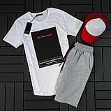 Мужской летний спортивный костюм ( футболка + шорты + кепка ), фото 2