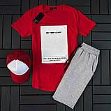 Мужской летний спортивный костюм ( футболка + шорты + кепка ), фото 4