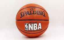 Мяч баскетбольный PU SPALDING NBA SILVER BA-5472 (реплика)