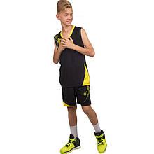 Форма баскетбольная подростковая Pace, черный (LD-8081T-(blk))