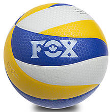Мяч волейбольный FOX, PU, с сотами, №5, 5 сл., клееный, синий (SD-V8005)