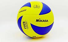 Мяч волейбольный MIKASA PU, №5, 5 сл., клееный (MVA-330)