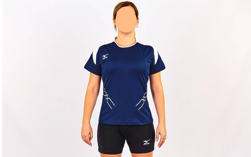 Форма волейбольная женская с воротничком MIZUNO Replica, р-р S-XL, синий (CO-6482-BL-(dbl))
