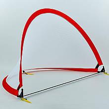 Складные футбольные ворота PORAY, пластик, сетка, р-р 152х91х91см, красный (PS-SN001M-(rd))