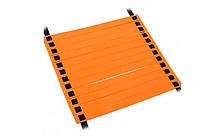 Координационная лестница дорожка для тренировки скорости, 12 перекл., 6мx0,52мx4мм., оранжевый (C-4111-(or))