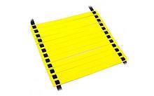 Координационная лестница дорожка для тренировки скорости, 20 перекл., 10мx0,52мx2мм, желтый (C-4607-(yl))
