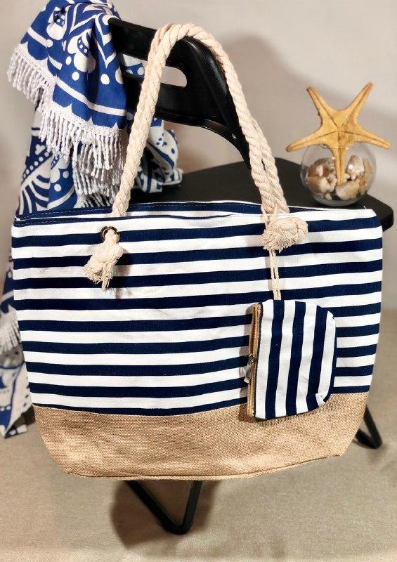 Пляжна сумка жіноча Стріпс №6