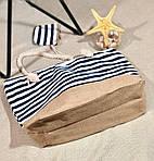 Пляжна сумка жіноча Стріпс №6, фото 3
