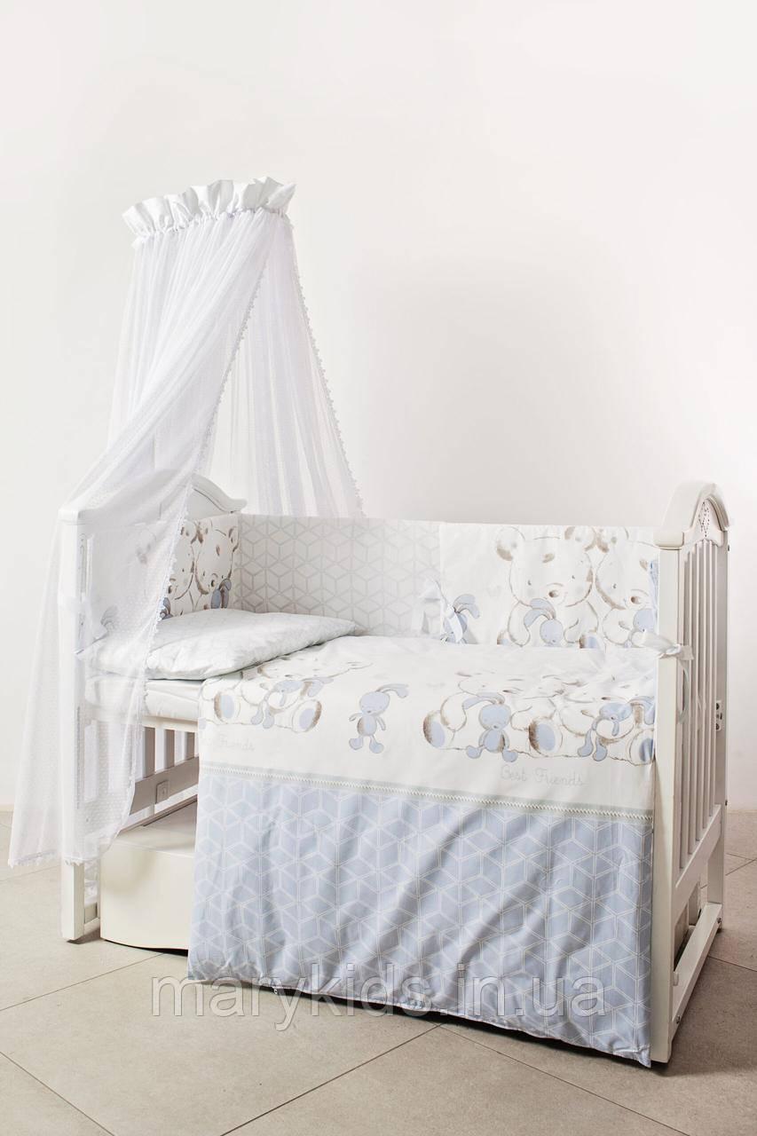 Дитяче ліжко Twins Eco Line 4091-E-026 Best Friends Grey 6 елементів