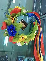 Венок на голову из цветов, украинский веночек на голову
