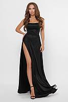 Эффектное вечернее длинное черное платье