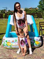 Сдельный купальник фемели лук для мамы и дочки, фото 3