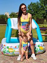 Сдельный купальник фемели лук для мамы и дочки, фото 2