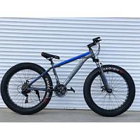 Спортивный велосипед Top Rider 630 Фэтбайк колеса 26 дюймов рама сталь синий