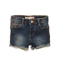 Детские джинсовые шорты для девочки, классические синие, размеры от 74 до 98 см