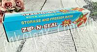 Пакеты zip lock для заморозки и хранения 17.7 x 20.3 см (уп-25 шт)