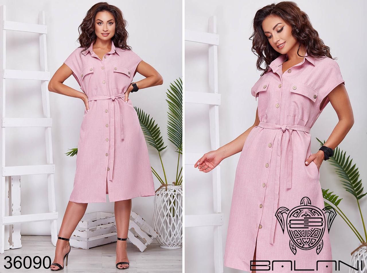 Льняное  женское платье батал р.48-58  Balani XL