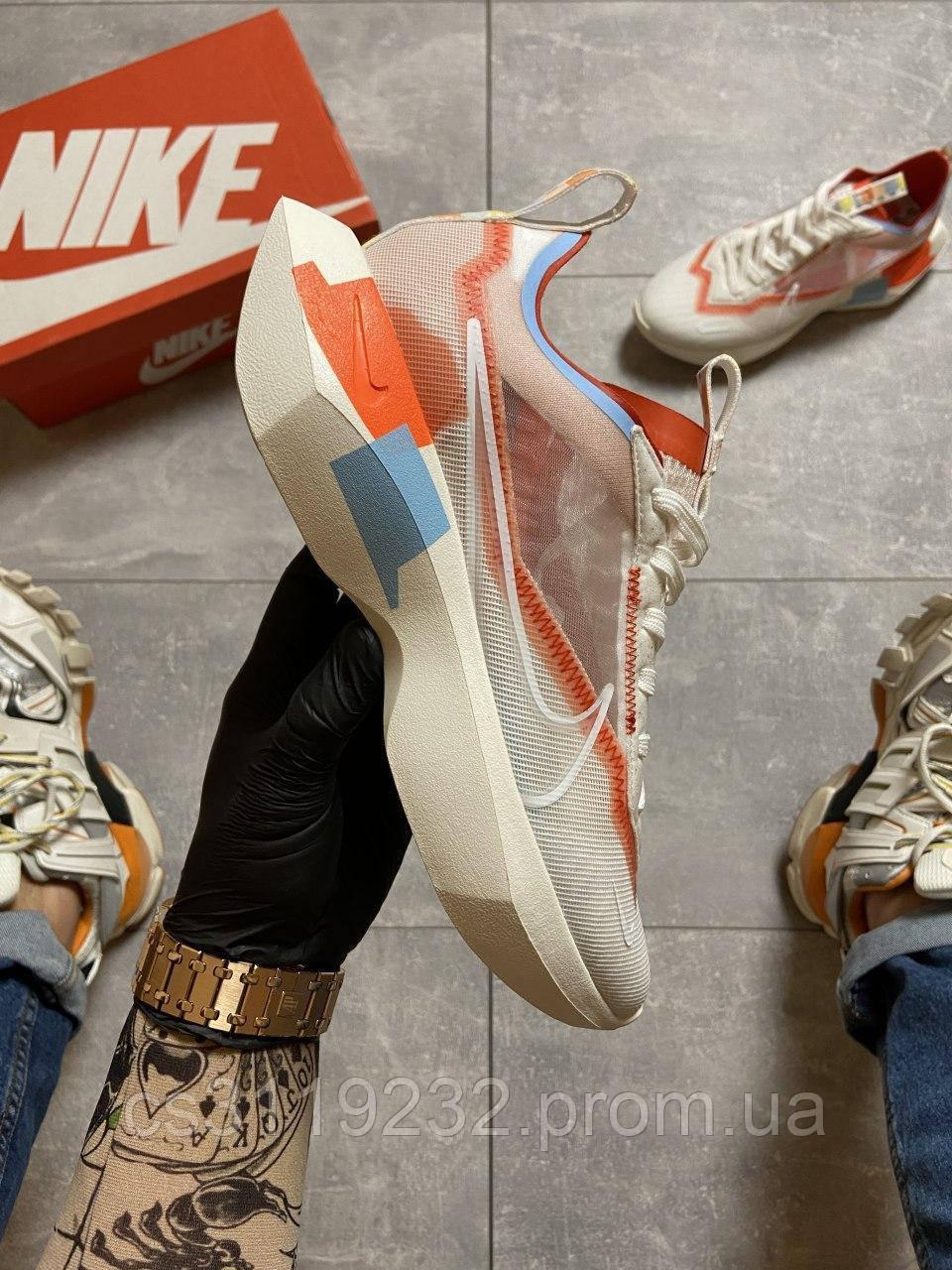Женские кроссовки Nike Vista White Orange (белые)