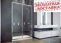 Душевые двери Duo Slide 130x195 хромированные блестящие, фото 1