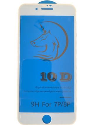 Захисне скло CURVE Full GLASS Glue 10D iPhone 7 Plus/8 Plus White, фото 2