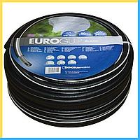 """Шланг поливочный Tecnotubi Euro GUIP BLACK 1"""" дюйм 50 м"""