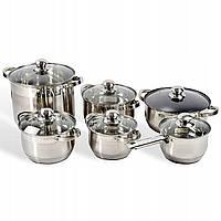 Набор кухонной посуды, набор кастрюль Edenberg EB-4020 из нержавеющей стали, 12 предметов