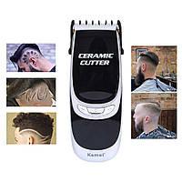 Профессиональная машинка для стрижки волос с насадками Kemei LFQ-KM-6035 LED дисплей / триммер для волос