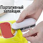 Домашний запайщик пакетов Adna Mini Pack 2в1 ручной запаиватель пакетов бытовой в комплекте 10 пакетов. Белый, фото 3