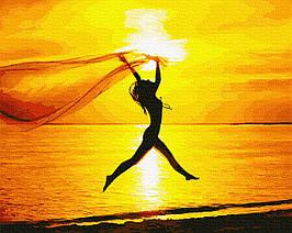 Картина по Номерам Эмоции заката 40х50см RainbowArt