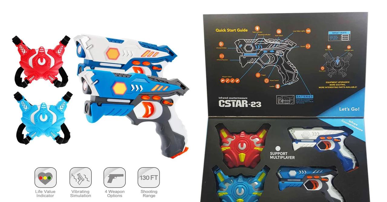 Лазерные Пистолеты Лазертаг 2шт. LaserTag BB8823F