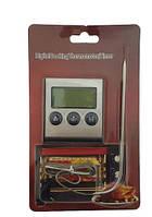 Цифровой термометр с выносным датчиком серый Digital Cooking TP-700, фото 1