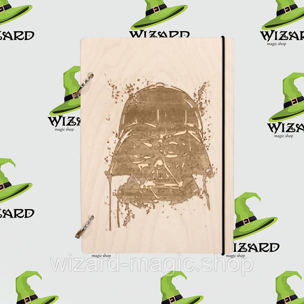 Деревянный блокнот А6 Star Wars Дарт Вейдер (светлое дерево)