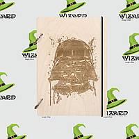 Деревянный блокнот А6 Star Wars Дарт Вейдер (светлое дерево), фото 1